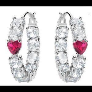 Swarovski Love Hoop Earrings